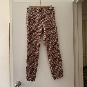 Brown/navy/white H&M Cropped Pants